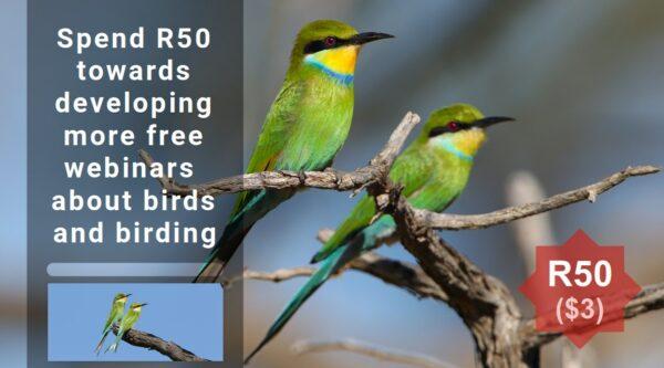 Fifty Rand towards free webinars